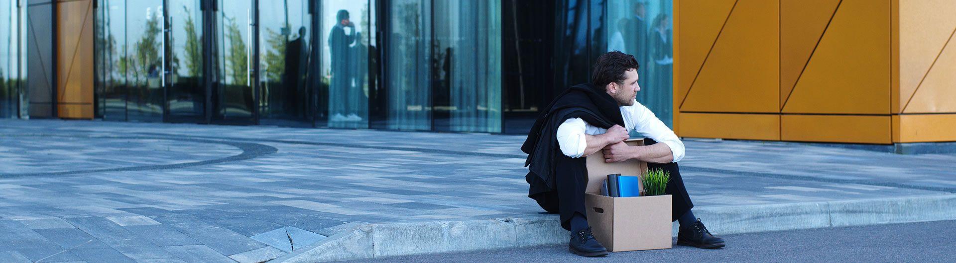 Man grief stricken after losing his job